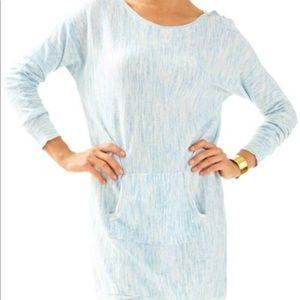 Lilly Pulitzer Blue Jupiter Sweater Dress Size L